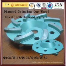 for Concrete Helical Tooth Diamond Segment Diamond Grinding Cup Wheel